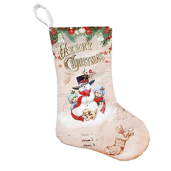 Weimay 1 UNIDS Decoraciones Navideñas de Calcetines Dulces Paño Cepillado Papá Noel Muñeco de nieve Decoración Decoración para el Hogar Regalos ...