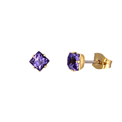 abe0094b3 LJ Designs Stunning Purple Crystal Earrings (E37) - Made With Crystals From  Swarovski -