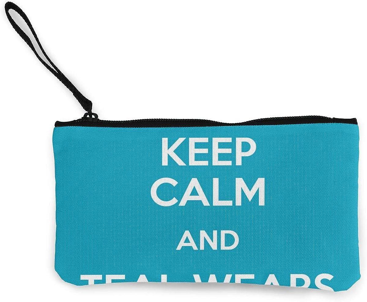 Coin Purse Keep Calm Teal...