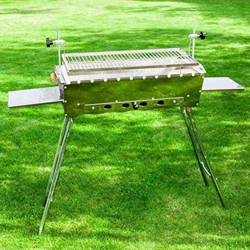 Kitchen Mangal Barbecue en acier inoxydable Barbecue Jardin Stand schaschlik Idéal