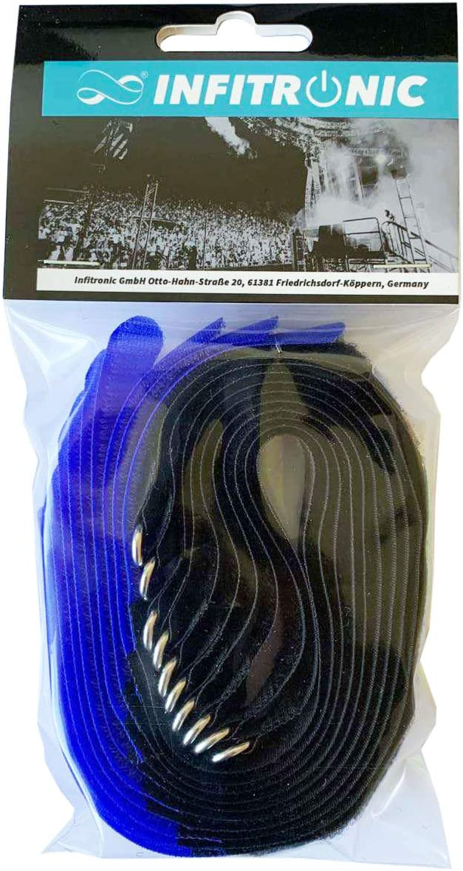 Infitronic 40 x 400 mm Amarillo Bridas de velcro con ojal met/álico
