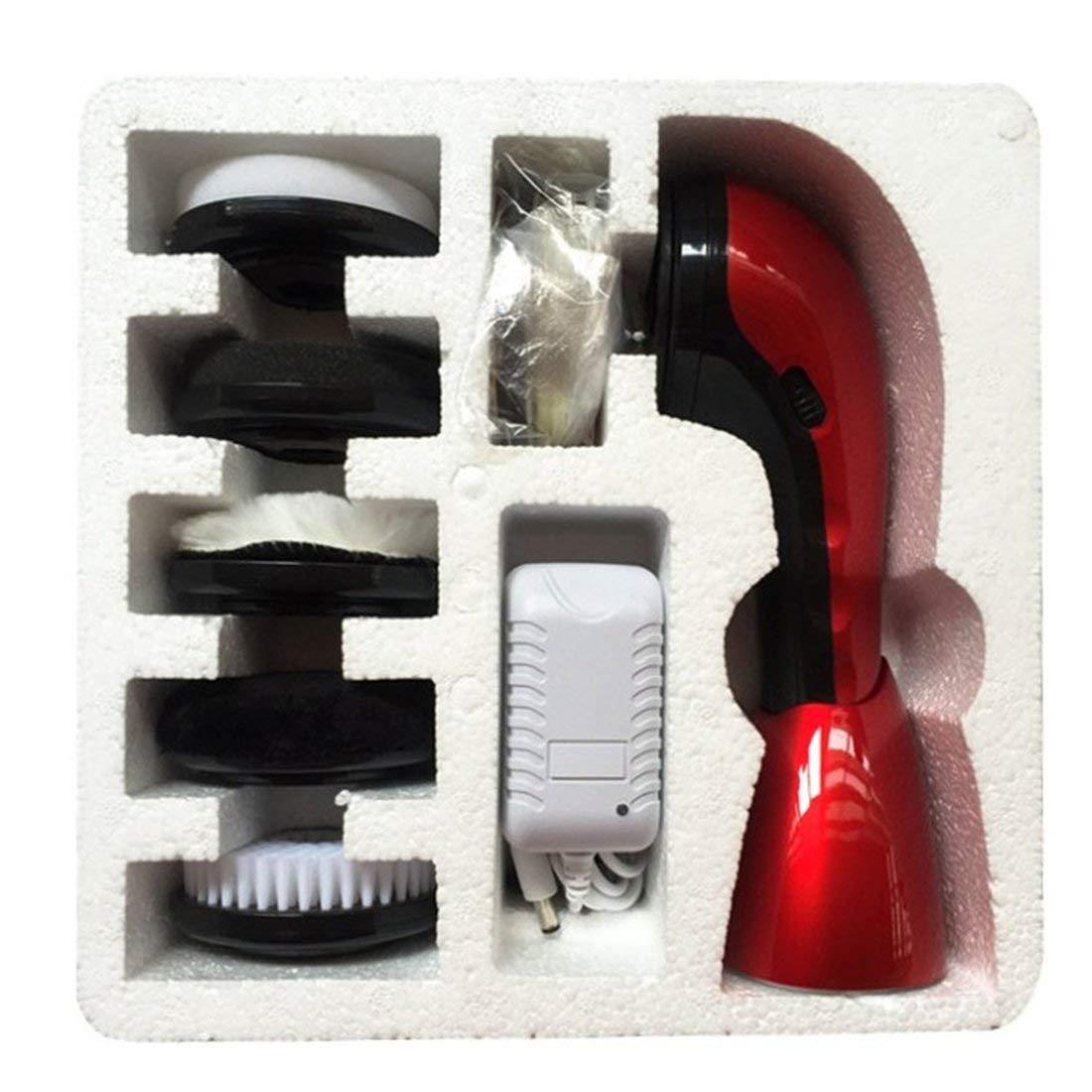 Calzado de cuero eléctrico de mano para Artifacto el hogar Pincel Artifacto para Cuidado de cuero - Rojo f7ecd6