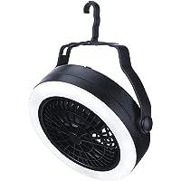 TOOYFUL Ventilador de Tenda com Lanterna de Acampamento Suspensa com Resfriamento Individual E Ventilador