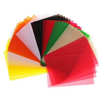 Amazon Com Fityle 50 Sheets Colored Translucent Vellum Papers For