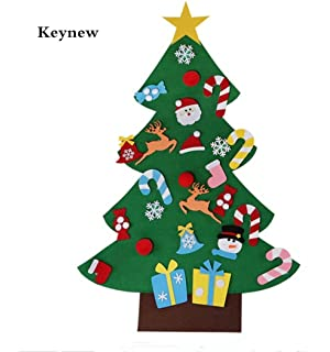 keynew funny christmas diy felt wall hanging tree kid puzzle toys gift wall 36ft velcro - Christmas Tree For Me