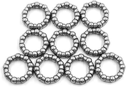 Sourcing map - Juego de 10 rodamientos de bolas para bicicleta, de 18 mm, de acero, 9 bolas: Amazon.es: Coche y moto