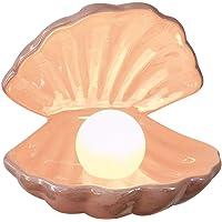 Beportle parellamp, accentlamp, nachtlampje, parel in schelp, ornament, verzamelstuk, tafeldecoratie, wooncultuur, voor…