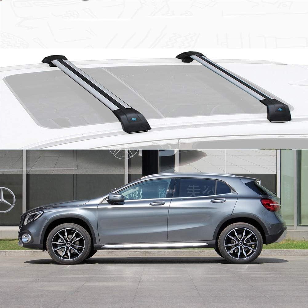 Size : for Mercedes Benz GLA 2015 LLDS Ma/ßgeschneidert F/ür GLA Aluminiumlegierung Dachtr/äger Relingtr/äger Dachlasttr/äger Tr/äger F/ür GLA