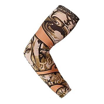 HUKD Tattoo Arm calcetín Mangas de Brazo de Nylon elástico ...