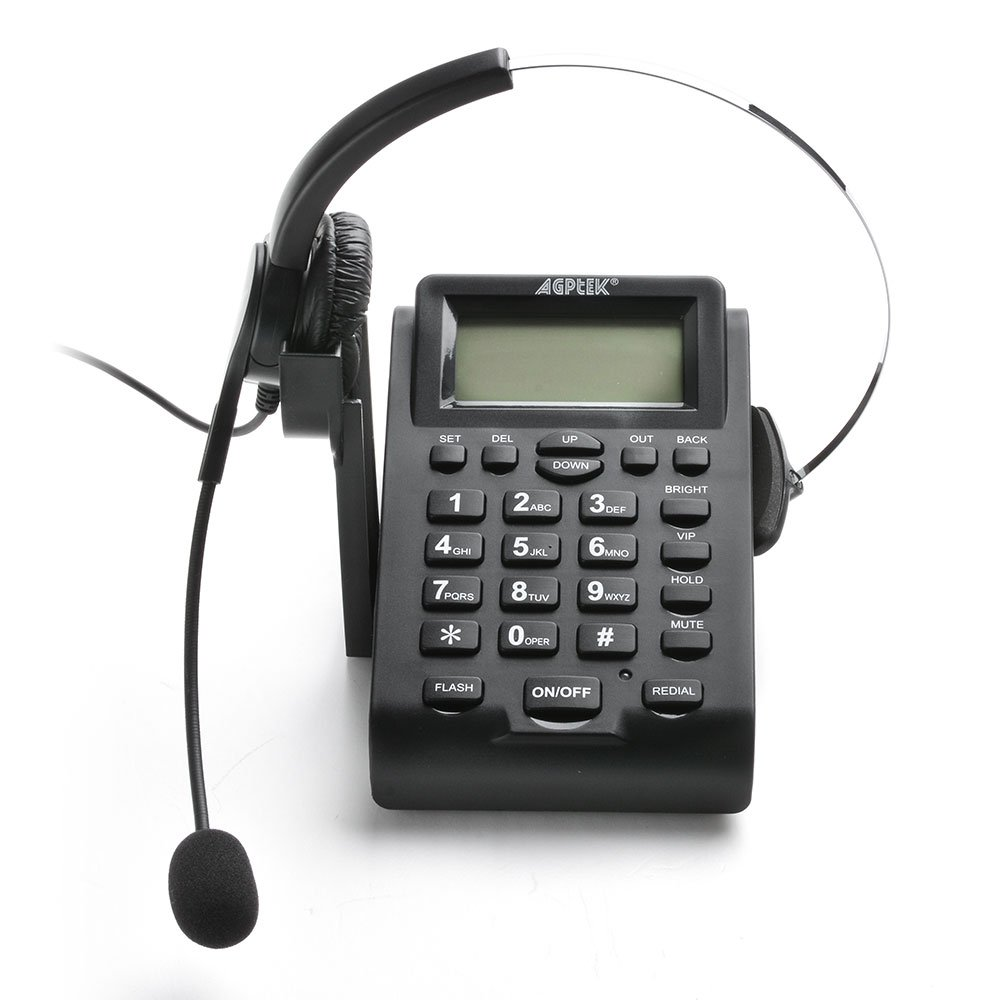 AGPtek® Call Center Dialpad Headset Telephone with PC Recording Function