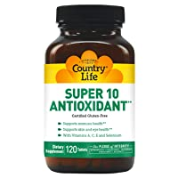 Country Life Super 10 Antioxidant, 120-Count