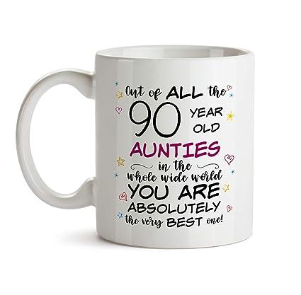 90th Auntie Birthday Gift Mug