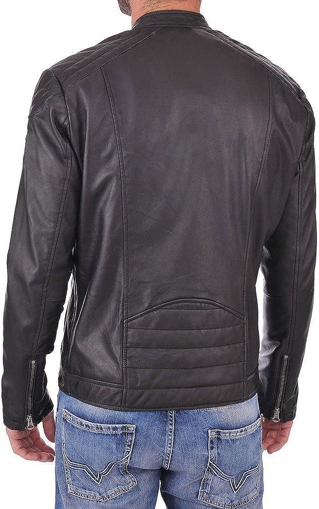 Designer Genuine Lambskin Leather Motorcycle Overcoat LT626