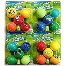 Nerf Koosh Galaxy Ball Refill 5 Pack with Silly Face Ball Gift Set Bundle - 4 Pack (20 Balls Total)