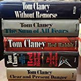 Tom Clancy Box Set (5 Hardbacks) - Clear Present Danger, Red Storm Rising/Cardinal of the Kremlin, Sum of All Fears, Red Rabbit, Without Remorse