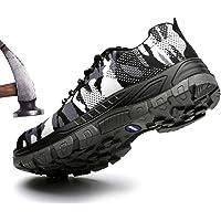 [todaysunny] 安全靴 作業靴 メンズ サンダルタイプ スニーカー メッシュ 鋼先芯 鋼製ミッドソール セーフティーシューズ 通気性抜群 防臭 防滑 耐磨耗 絶縁 メンズ 防護靴 [並行輸入品]