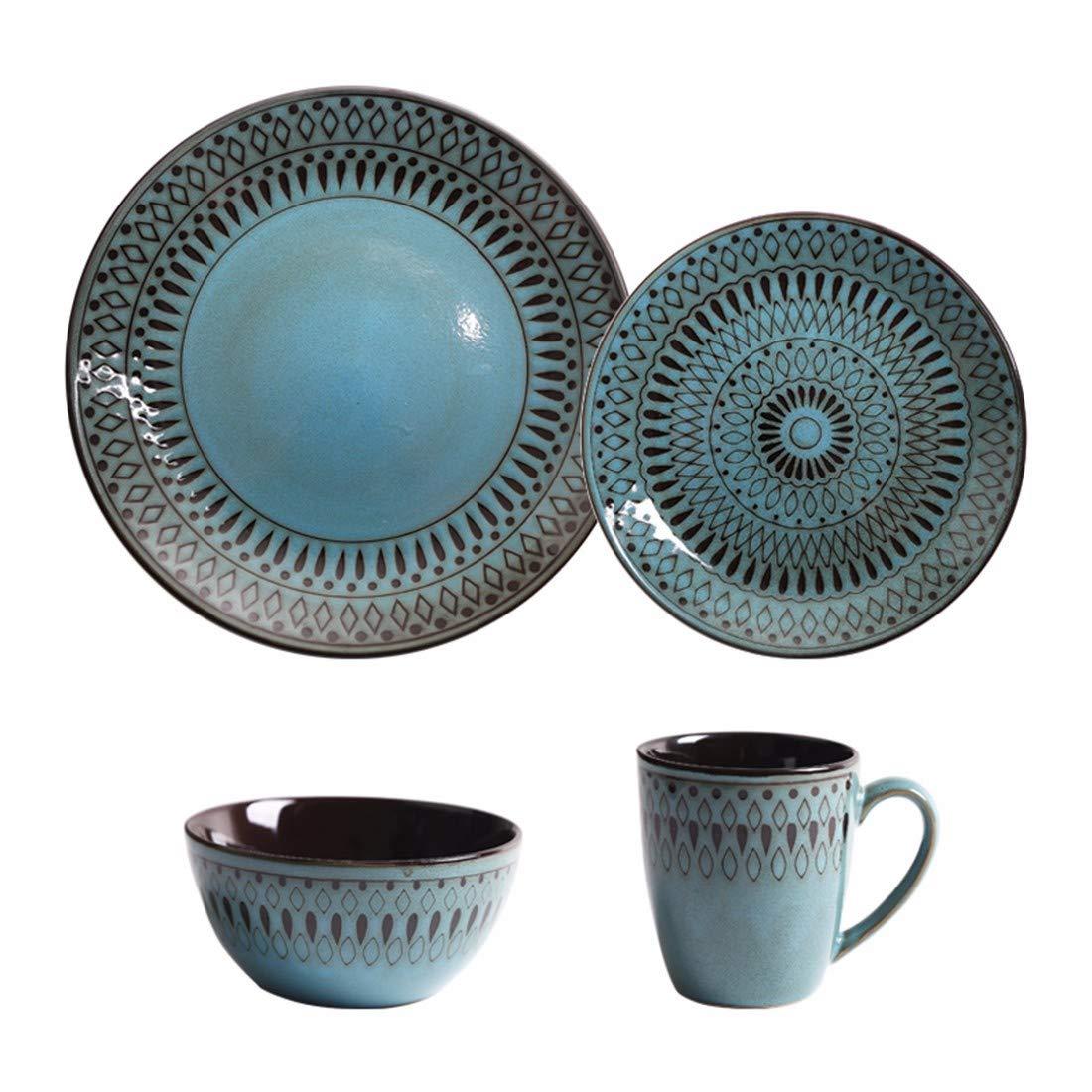 QPGGP-Teller Die Europäischen Und Amerikanischen Keramik - Schale, Teller, Becher, Teller, Teller, Antiquitäten, Beefsteak, Schüssel, Westlichen Platte, Wasser - Glas,E