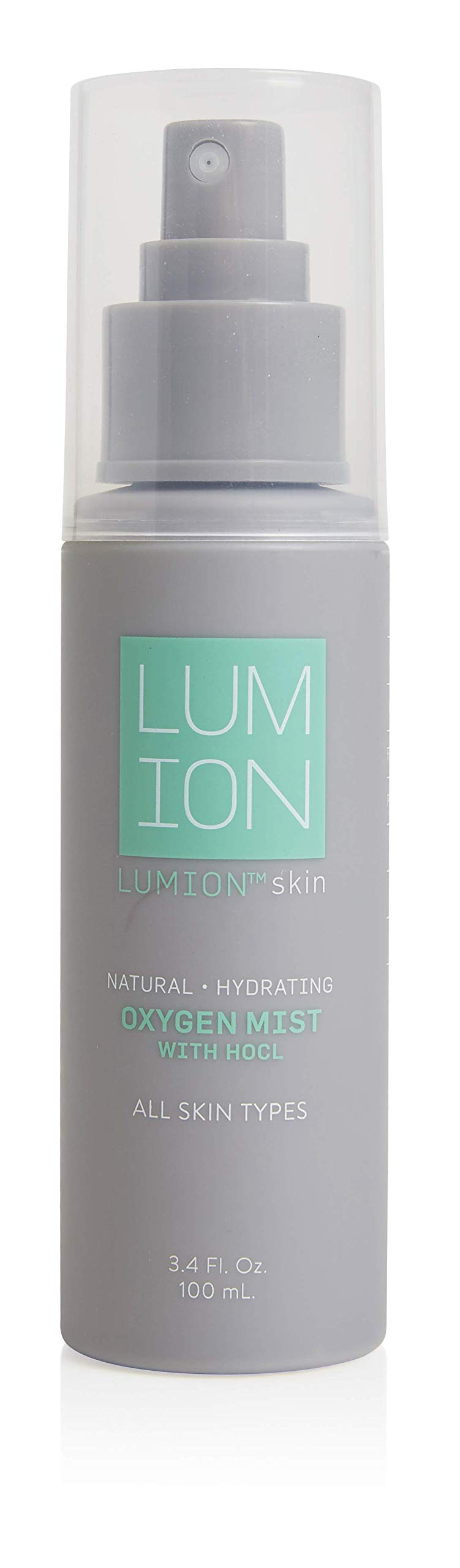 LUMIONskin Oxygen Mist with HOCL, Cleansing, Hydrating, Non-Irritating Every Day Mist, Ideal for Blemish Prone Skin, Vegan and Cruelty Free, 3.4 fl oz.