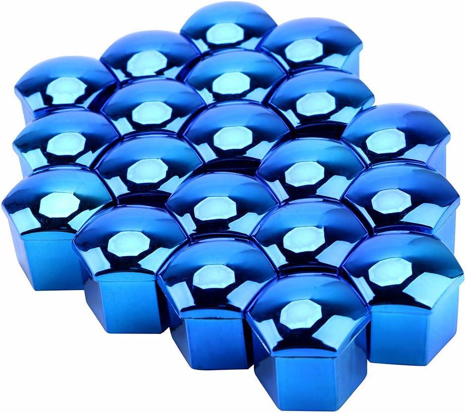 protecci/ón anticorrosi/ón tornillos de buje de coche 19 mm color negro Tapas protectoras universales de 20 piezas tapones para tuercas de neum/áticos de coche
