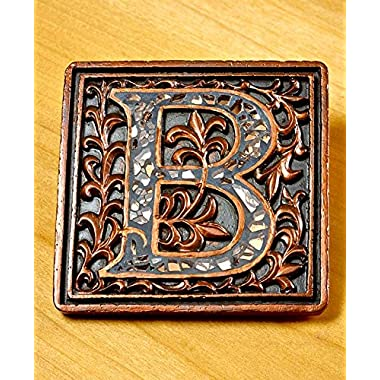 Mosaic  B  Monogram Coaster Set