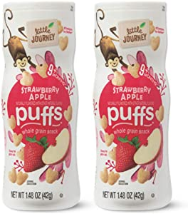 Little Journey 9+ Months Strawberry Apple Naturally Flavored Whole Grain Puffs Snacks - 2 Count (1.48 oz)