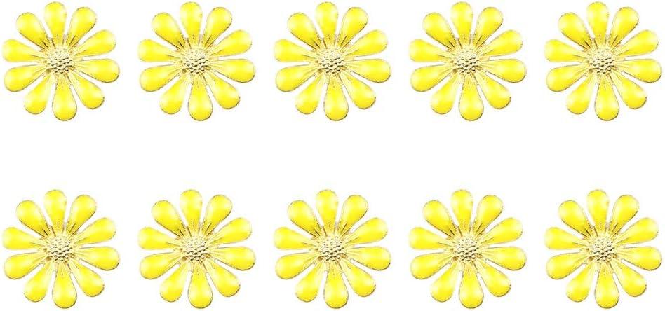 1.8cm Arancione Kentop 10/PCS Decorazioni Gioielli Bottoni A Forma di Margherita Piccola Vestiti DIY Decorazione 1.8/* 1.8/cm 1.8