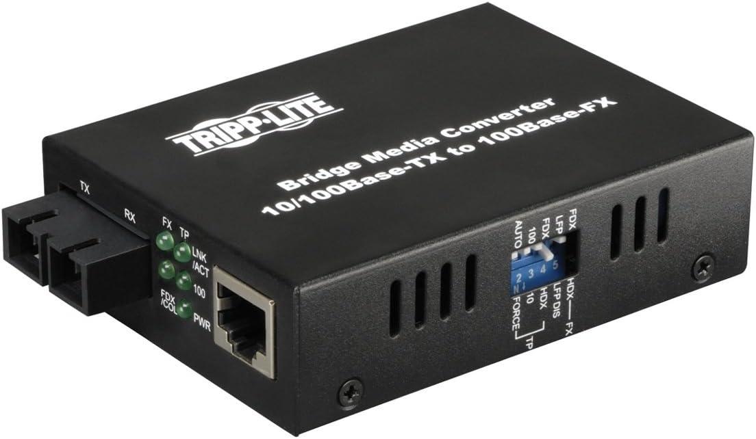 10//100Base-TX Tripp Lite N784-001-SC UTP to Fiber Media Converter 100Base-FX 1 x RJ-45 1 x SC Duplex FIBER OPTIC 10//100BASET TO 100BASEFX-SC MEDIA CONVERTER FIBER