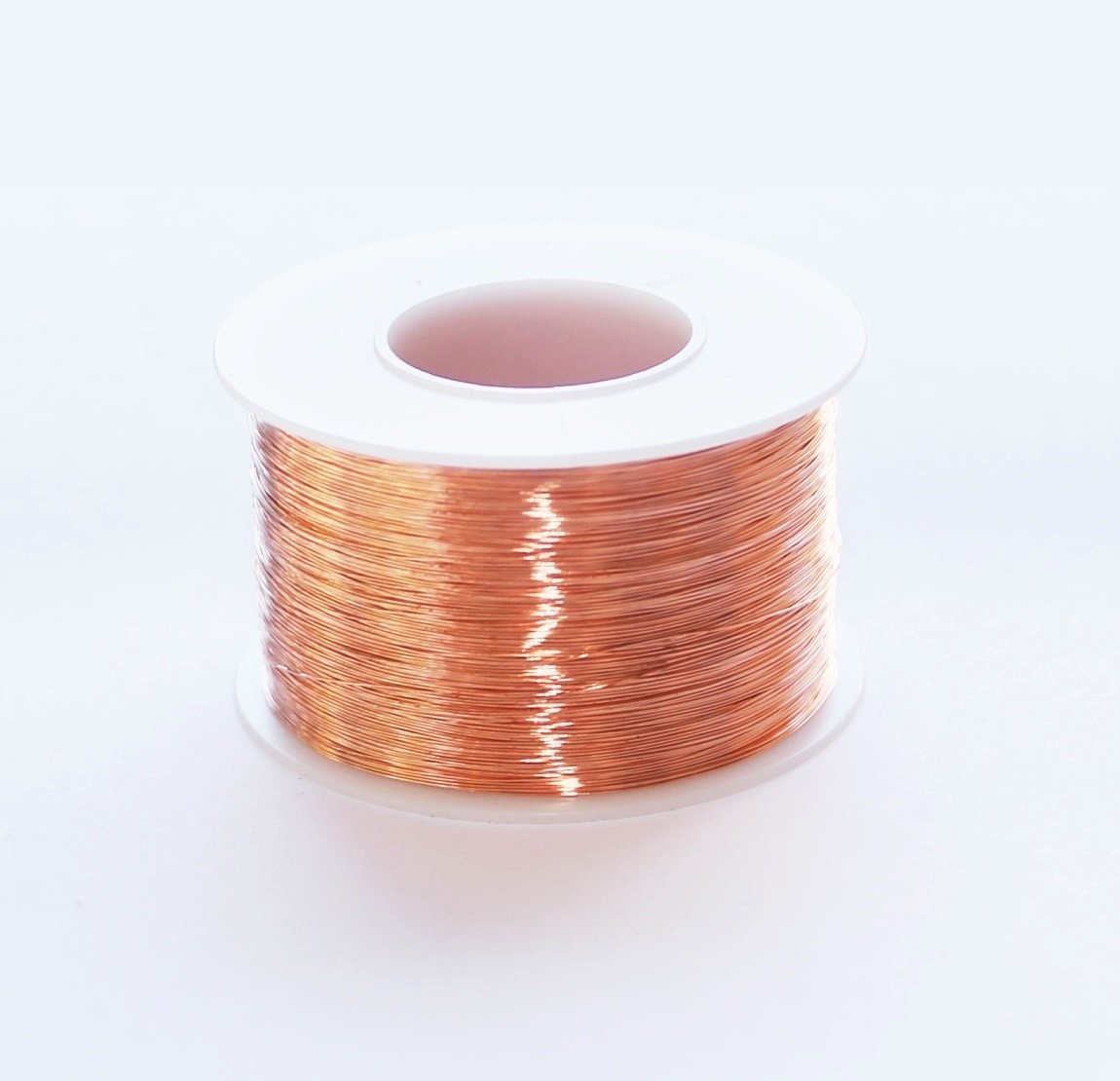 Bare Copper Wire; For general lab use; Comes in 454g spools; 1 lb. 22 AWG
