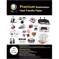 """MR.R Premium Sublimation Heat Transfer Paper 105gsm 8.5""""x11"""" with 100 Sheets for Fabric and Stiff Blanks Suitable for…"""