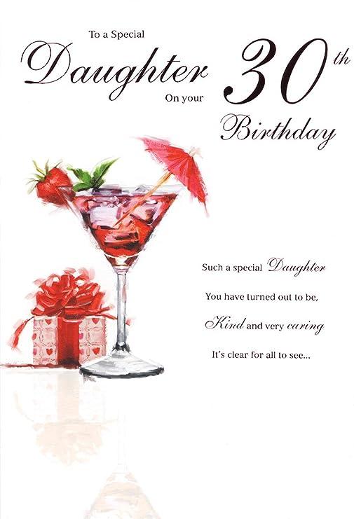 Hija 30th Tarjeta de cumpleaños - joven mujer, bolsas de ...