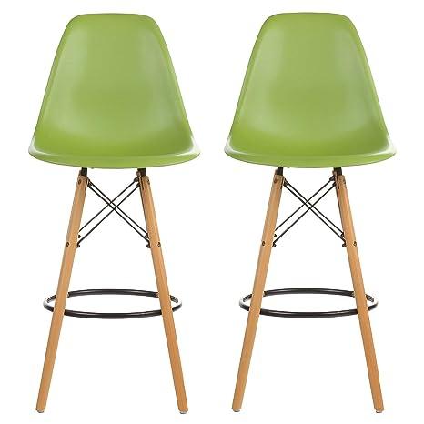 Pleasant Amazon Com Midmod Designs Pv Eams Twc Grn 2 Mid Century Unemploymentrelief Wooden Chair Designs For Living Room Unemploymentrelieforg