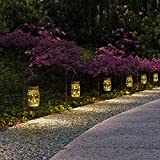 GIGALUMI Hanging Solar Mason Jar Lid Lights, 6 Pack