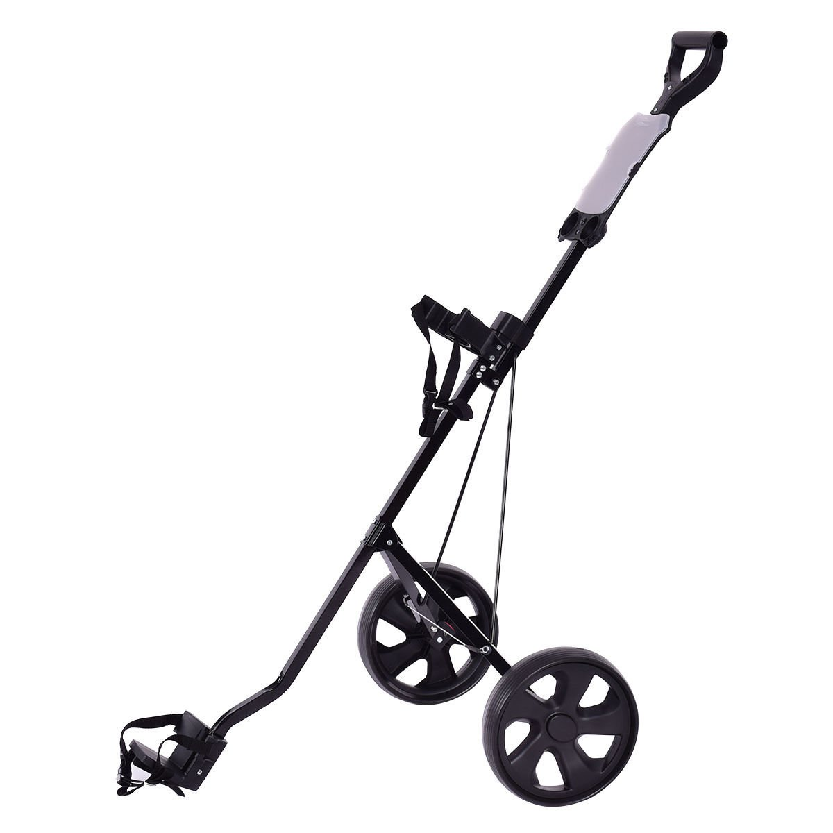 COSTWAY Golf Cart Foldable 2 Wheel Push Pull Cart Trolley