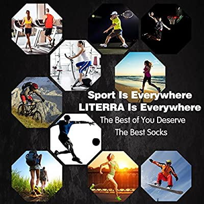 Amazon.com : LITERRA Womens Ankle Socks Low Cut Athletic Sports Running Cushioned Tab Socks 6 Pack : Clothing