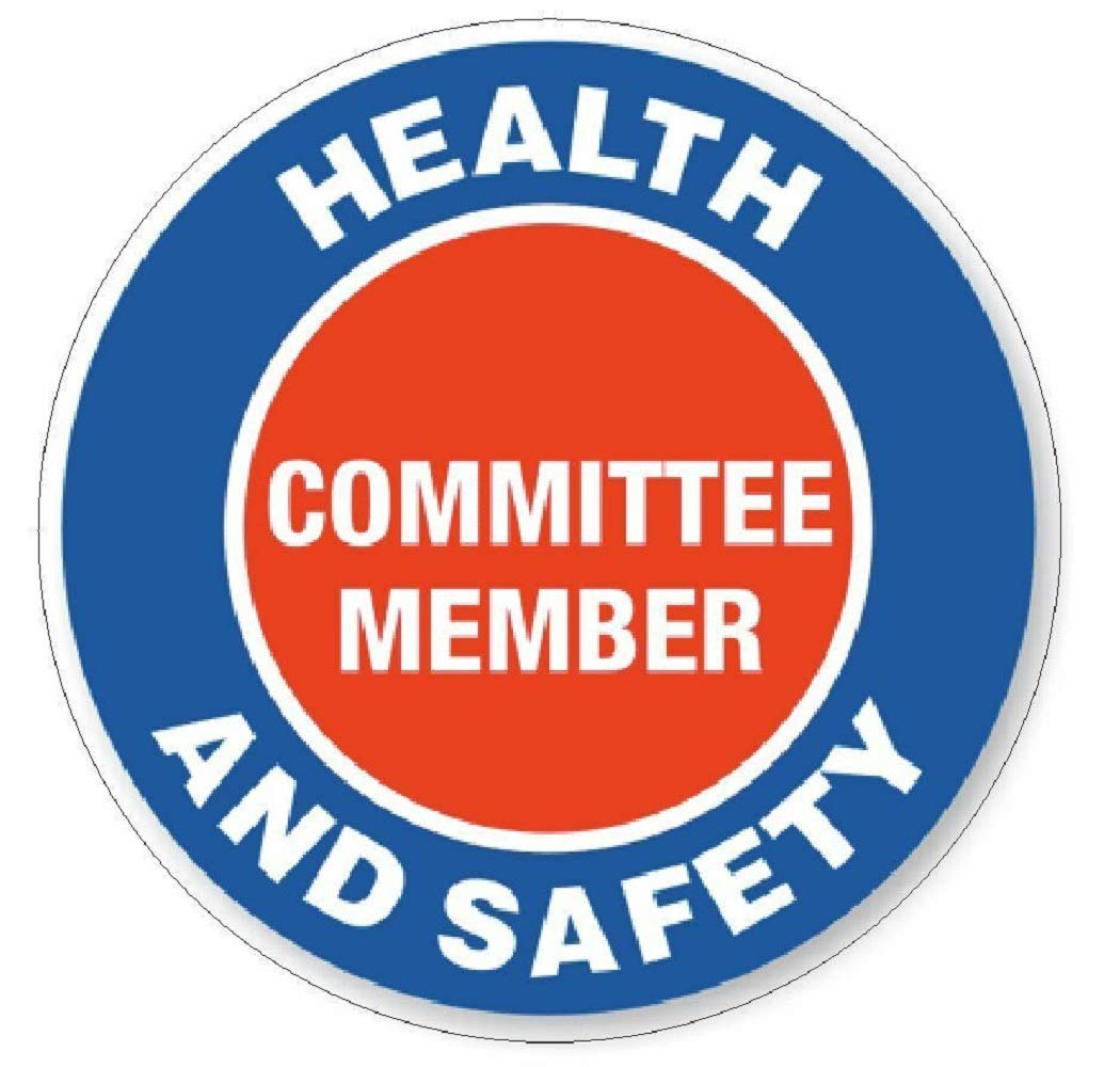 manda_ol 100 Pack 2'' inches Health & Safety Committee Hard Hat Decal Hard Hat Sticker Helmet Safety