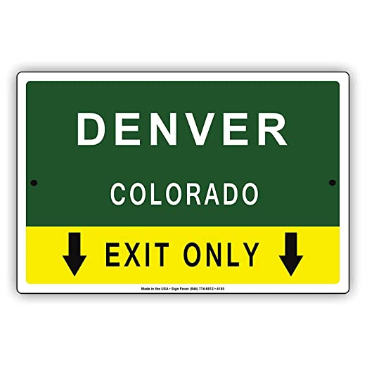 Eugene49Mor Denver Colorado - Placa metálica de Aluminio ...