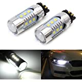 iJDMTOY (2) Xenon White PW24W PWY24W LED Bulbs For Audi BMW Volkswagen Turn Signal Lights or Daytime Running Lights