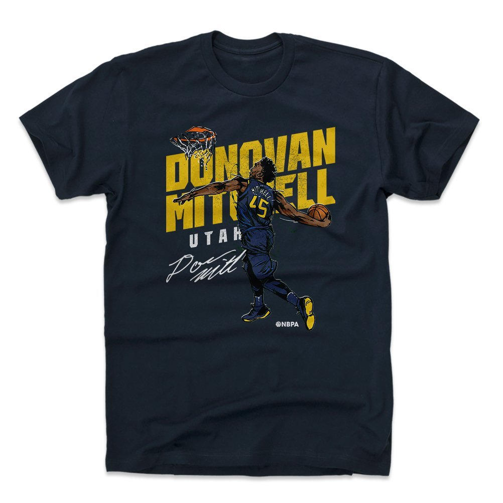 Amazon.com   500 LEVEL Donovan Mitchell Shirt - Vintage Utah Basketball  Men s Apparel - Donovan Mitchell Slam   Sports   Outdoors 9d89a5797