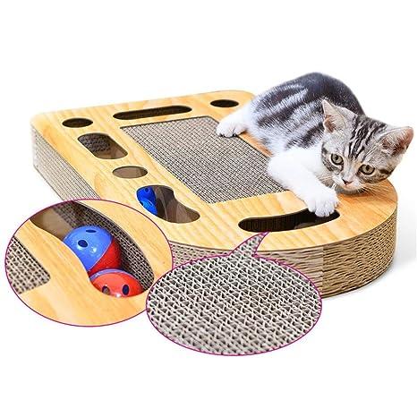 Wagyunfei Juguetes para Gatos Juguete de la Bola del Scratcher del Gato Divertido con el diseño