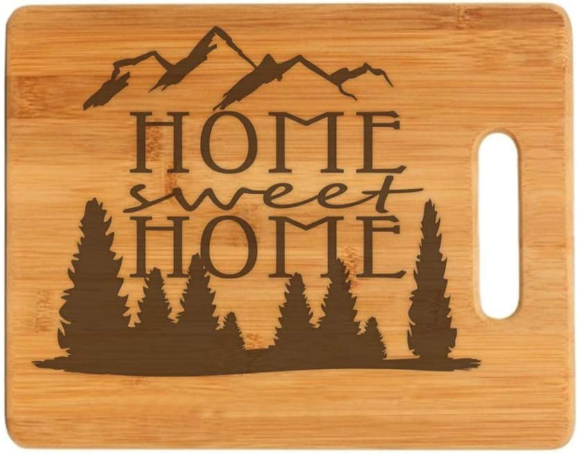 Housewarming Gift Home Sweet Home Engraved Cutting Board - Realtor Closing Gift - New Home Gift