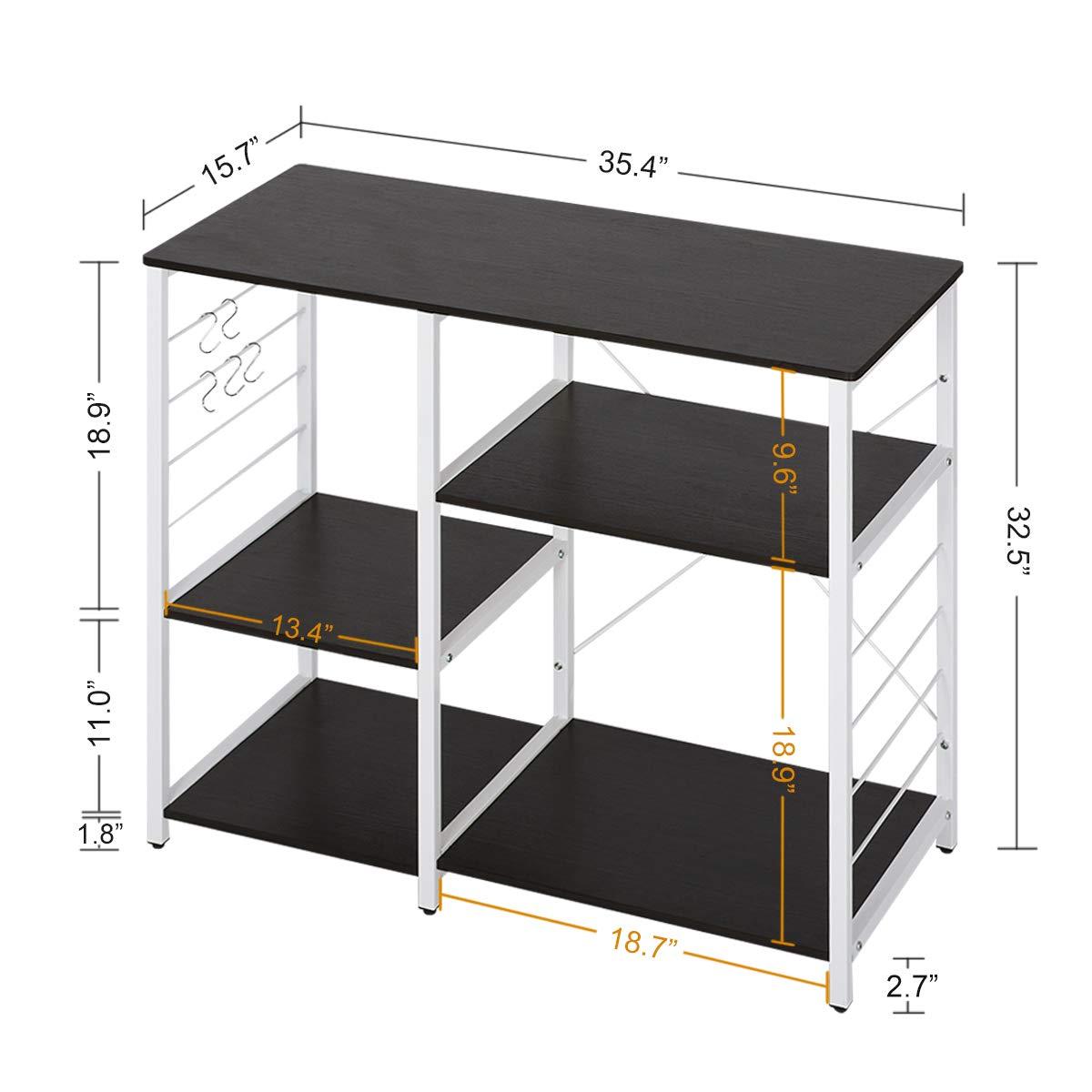 WLIVE Multi-Purpose Wood Kitchen Cart (Black) by WLIVE (Image #2)