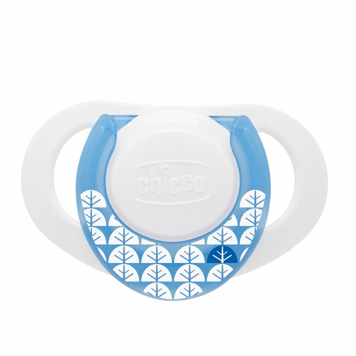 Chicco Physio - Chupete de silicona, 0 meses en adelante, color azul