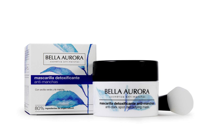 Bella Aurora Mascarilla Facial Detoxificante Anti-Manchas, Mascarilla Natural, Elimina Impurezas y Reduce los Poros, Ilumina y Unifica el Tono, Textura Cremosa, 30 ml: Amazon.es