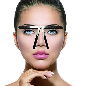 Amazon.com : Tattoo Eyebrow Ruler Three-Point Positioning Permanent Makeup Symmetrical tool Grooming Stencil Shaper Balance Ruler (1) : Beauty