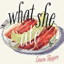 What She Ate: Six Remarkable Women and the Food That Tells Their Stories Audiobook by Laura Shapiro Narrated by Kimberly Farr, Laura Shapiro