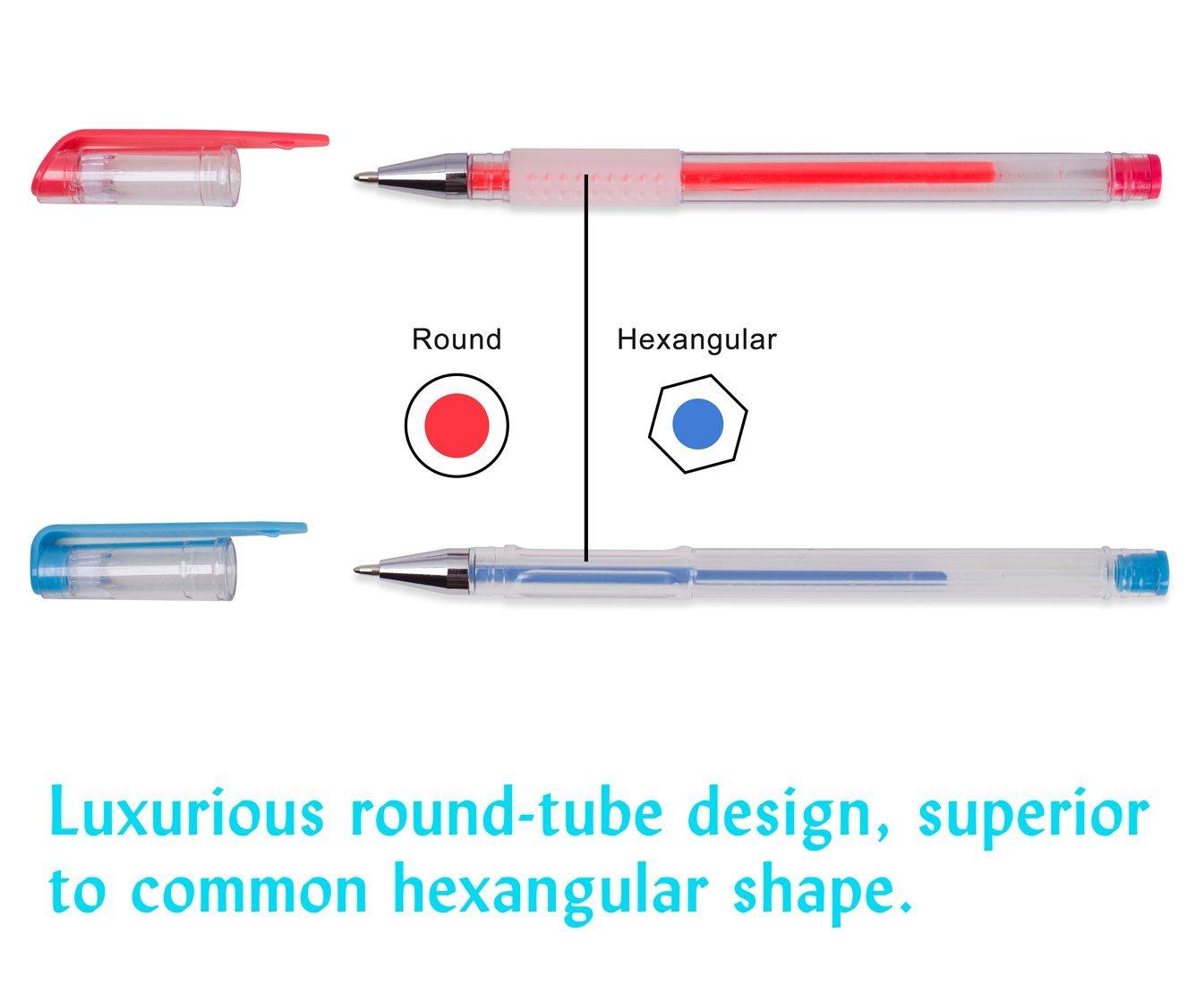 Shuttle Art 260 Colors Gel Pens Set 220% Ink Gel Pen for Adult Coloring Books Art Markers 130 Colored Gel Pens Plus 130 Refills by Shuttle Art (Image #9)