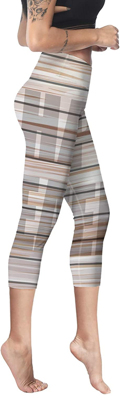 Printed Leggings for Women Pink Cherry Flower 3//4 High Waist Yoga Pants Sport Gym Leggings Workout