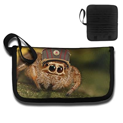 Gili Spider Soldier Travel Passport & Document Organizer Zipper Case