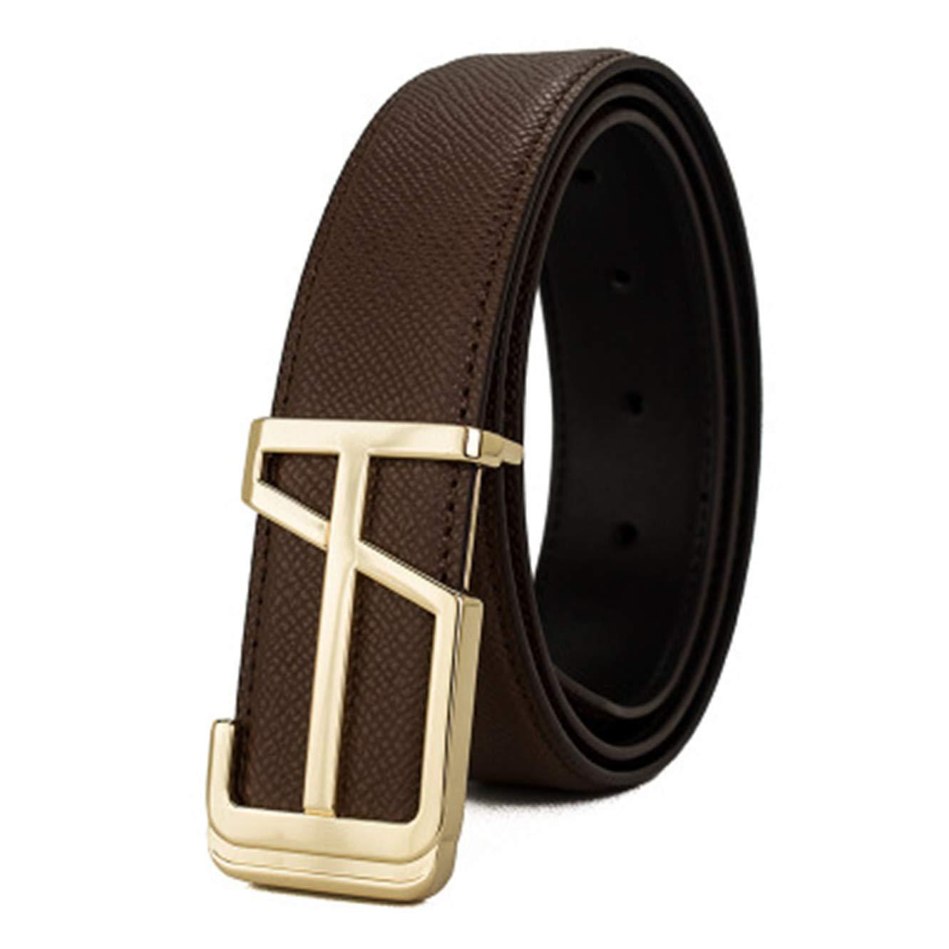 Mens brand high-grade leather belt creative buckle palm pattern belt