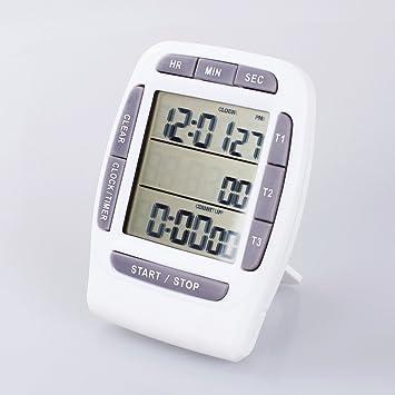 A-szcxtop con temporizador Digital con alarma y el visor Triple 3-line temporizador de cuenta atrás cronómetro/juego de bombillas para coche reloj: ...